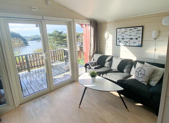 Liten stue med terrasse