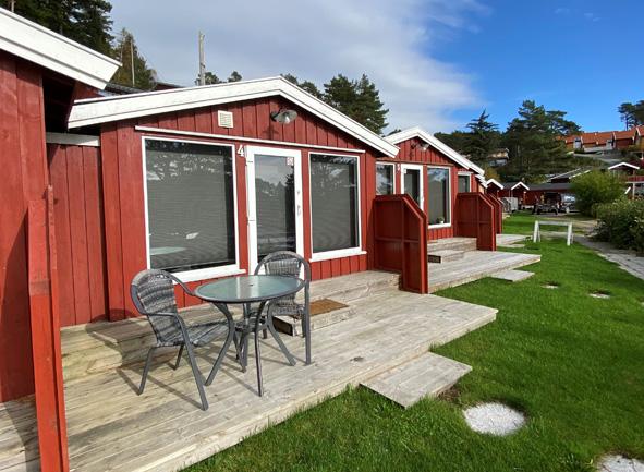 Små, koselige hytter på Sørlandskysten
