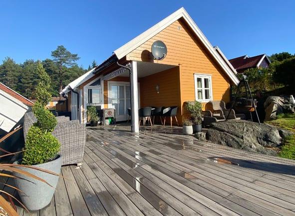 Hyggelig terrasse