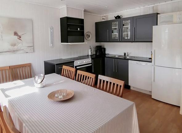 Egen kjøkkenkrok med kjøkkenutstyr