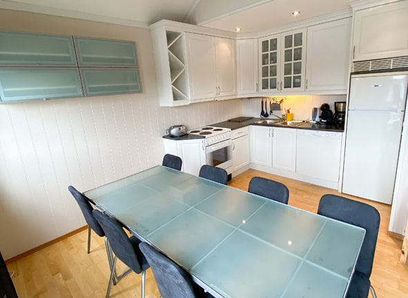 Kjøkken med utstyr