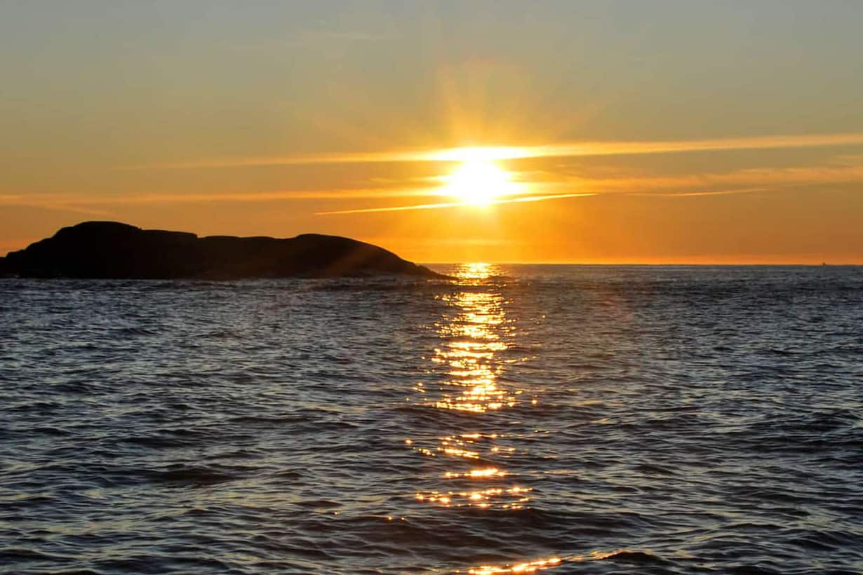 Solnedgang på Sørlandet